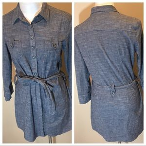 Anthropologie Fei Button Down Shirt Dress Sz M